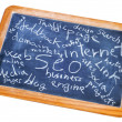 Stock Photo: internet blackboard