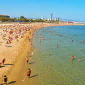 La Nova Icaria Beach, in Barcelona, Spain — Stock Photo