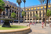 Plaza Real in Barcelona, Spain — Stock Photo