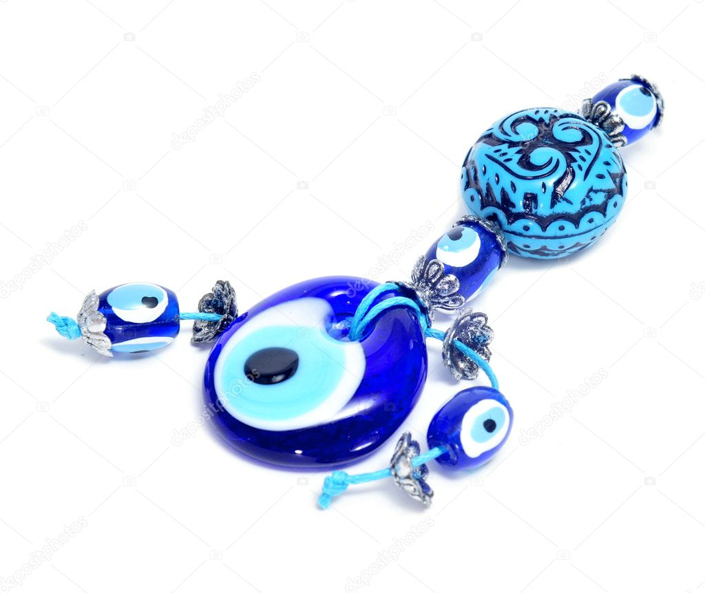 Evil eye amuleton a white background  Stock Photo #10224862