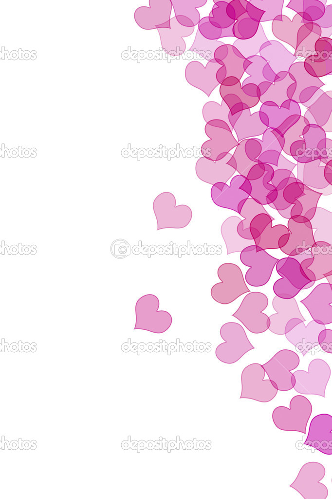 Hearts drawn on a white background — Stock Photo #10277840