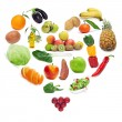 Stock Photo: Love for healthy food