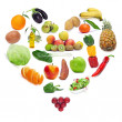 图库照片: Love for healthy food