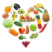 Love for the healthy food — Stock Photo