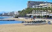 Playa de venus en marbella, españa — Foto de Stock
