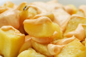 Typical spanish patatas bravas, spicy potatoes — Stock Photo