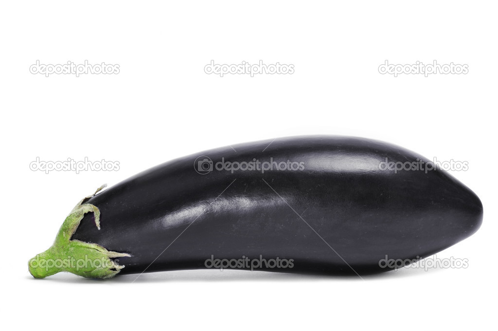 An eggplant on a white background — Stock Photo #10490706