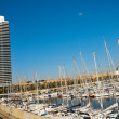 Port Olimpic in Barcelona, Spain - Stock Photo