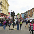 Portobello Road Market in London, United Kingdom - Stock Photo