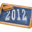 2012 on a chalkboard — Foto de Stock