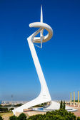 Montjuic Communications Tower in Barcelona, Spain — Stock Photo