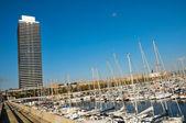 在西班牙,巴塞罗那奥林匹克港 — 图库照片