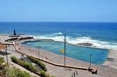 Zeewater zwembad in bajamar, tenerife, spanje — Stockfoto