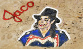Michael Jackson graffiti in Santa Cruz de Tenerife, Spain — Stock Photo