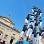 Castells, ludzkie wieże w tarragona, Hiszpania — Zdjęcie stockowe