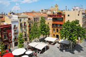 Placa del Rei and old town of Tarragona, Spain — Stock Photo
