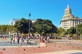 在巴塞罗那,西班牙加泰罗尼亚广场 — 图库照片