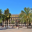 Stock Photo: PlazReal in Barcelona, Spain