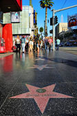 Hollywood walk fame i hollywood boulevard, los angeles, enhet — Stockfoto