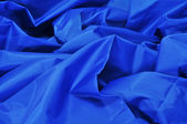 Blue satin fabric — Stock fotografie