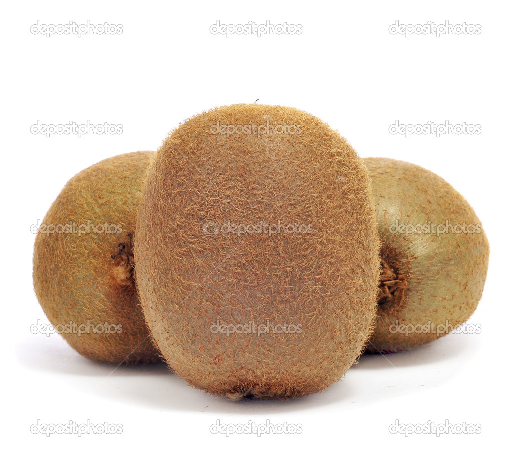 A pile of kiwis on a white background  Stock Photo #8421523