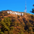 Hollywood sign in Mount Lee, Los Angeles, United States — 图库照片