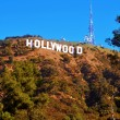 Hollywood sign in Mount Lee, Los Angeles, United States — Stock fotografie
