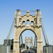 Bridge over Ebro river in Amposta, Spain — Stock Photo