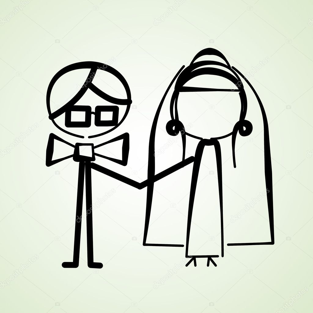 An illustration of a wedding couple — Stock Photo #8764210