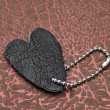 Stock Photo: Leather heart