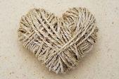 Rope heart — Stock Photo