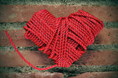 Corazón de cuerda — Foto de Stock