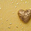 Golden heart — Stock Photo