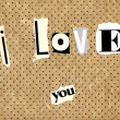 I love you — Stockfoto