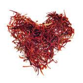 Saffron heart — Stock Photo