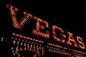 Vegas illuminated sign — Stock Photo