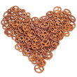 A pile of pretzels — Stock Photo