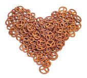 A pile of pretzels — Stock Photo