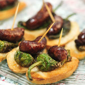 Spanish pinchos — Stock Photo
