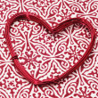 Heart-shaped wire roll — Stock Photo