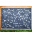 Internet blackboard — Stock Photo