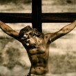 Jesus Christ in the holy cross - Stock Photo