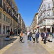 Calle Larios in Malaga, Spain - Foto Stock