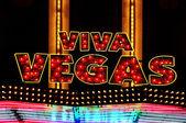 Viva Vegas illuminated sign — Stock Photo