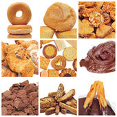 Pastries collage — Stock Photo