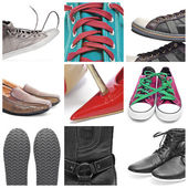 Shoes collage — Stock Photo