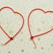 Heart-shaped zip ties — Stock Photo