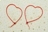 Ataduras de cremallera en forma de corazón — Foto de Stock
