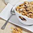Bowl with muesli — Stock Photo