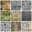 Royalty-Free Stock Photo: Walls and surfaces collage